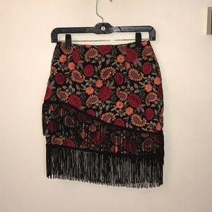 Nasty Gal Fringe Skirt